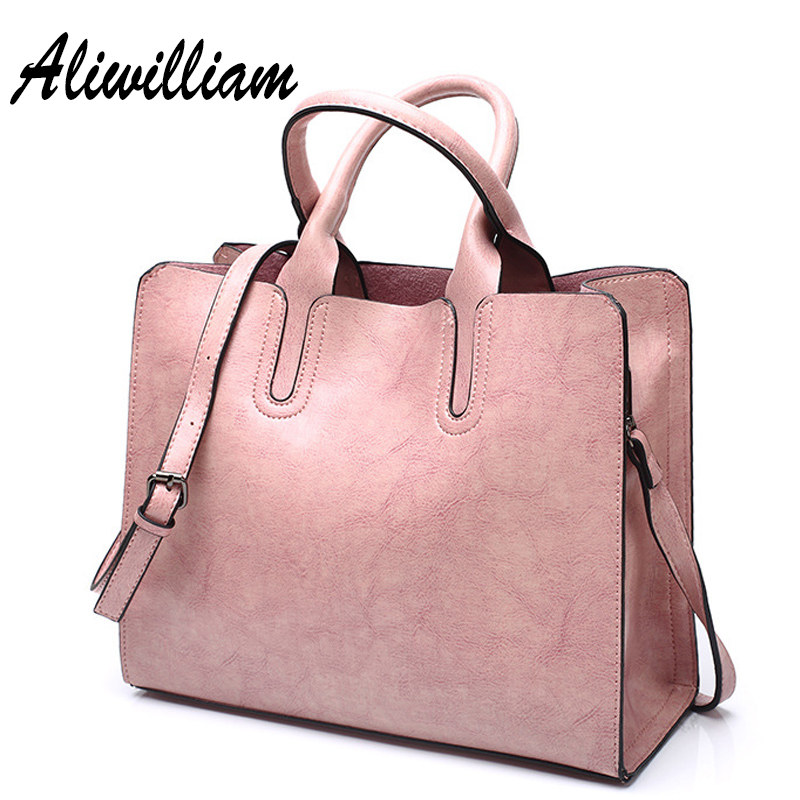 Fashion Women Handbags Leather Luxury Brand Oil Wax Leather Messenger Bag Ladies Shoulder Bags Casual Big Totes Bag Mujer Bolsos cute fashion women bag ladies leather messenger shoulder bags women s handbags