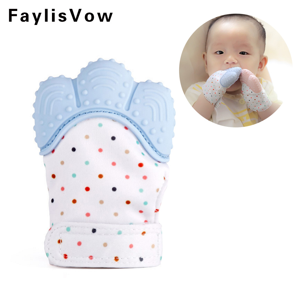 1Pc Baby Teether Pacifier Glove Natural Silicone Thumb Sound Teething Chewable Nursing Beads Infant Kid Give Up Sucking Fingers