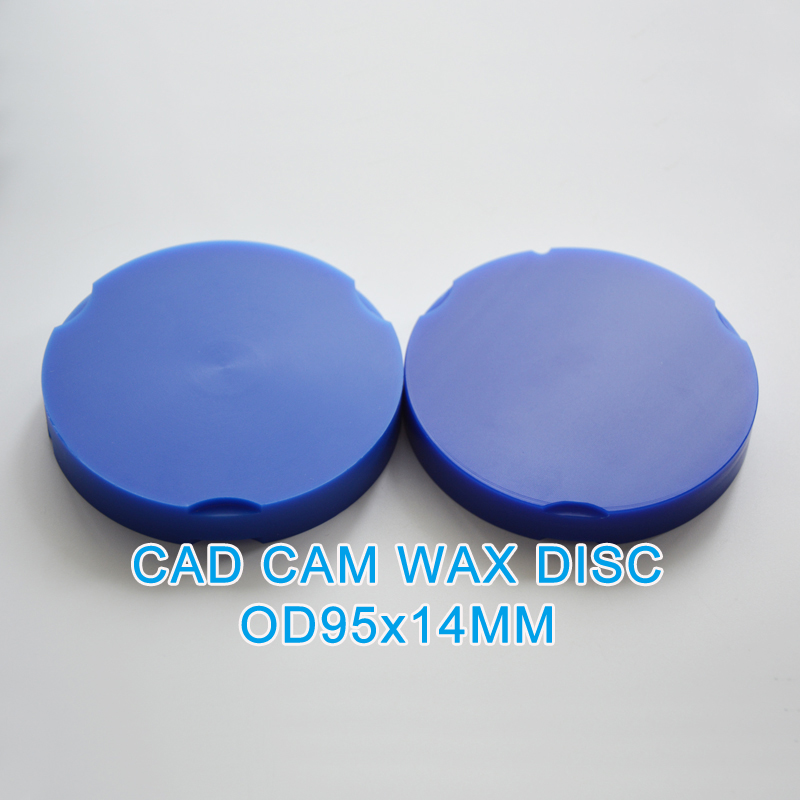 5pcs/lot 95*22MM ZirkonZahn OD95mm Wax Disc dental materials for false teeth dental casting wax