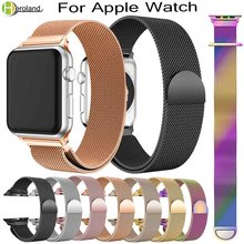все цены на new Milanese Loop band For Apple Watch series 1/2/3 42mm 38mm stainless steel Bracelet for iwatch series 4 40mm 44mm watch strap онлайн