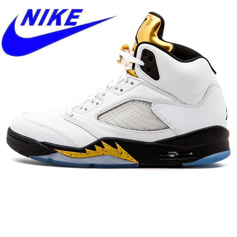 ded9b3f70d8 Detail Feedback Questions about Original Nike Air Jordan 5 Retro Olympic AJ5  Joe 5 Olympic Gold Medal In Men s Basketball Shoes