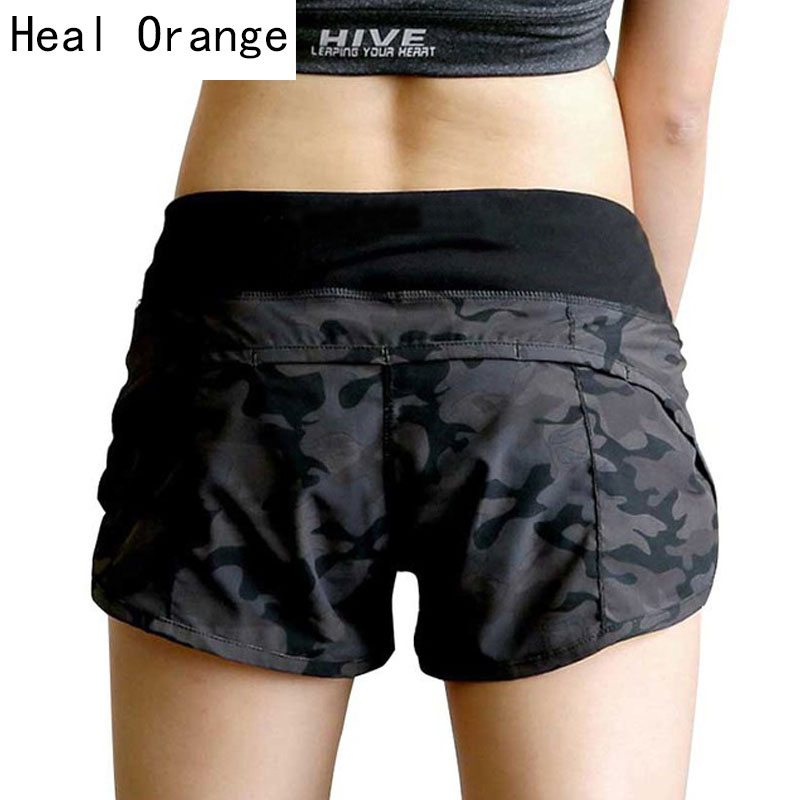 HEAL ORANGE Yoga Shorts Women Compression Short Pant Pantalon Corto Yoga Women Gym Fitness Yoga Shorts For Workout Sport Running