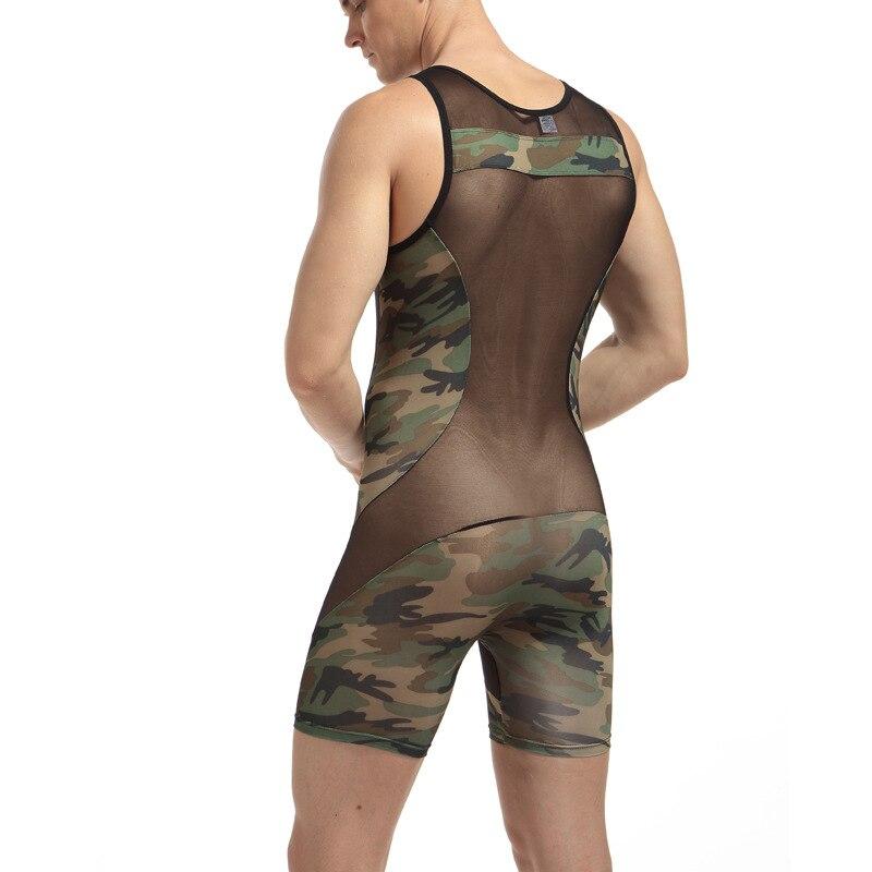 Mens sexy underwear male panties bodysuit panties Camouflage men clothing bodysuit masculino jumpsuit mens bodywear