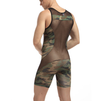 Mens sexy underwear male panties bodysuit panties Camouflage men clothing bodysuit masculino jumpsuit mens bodywear
