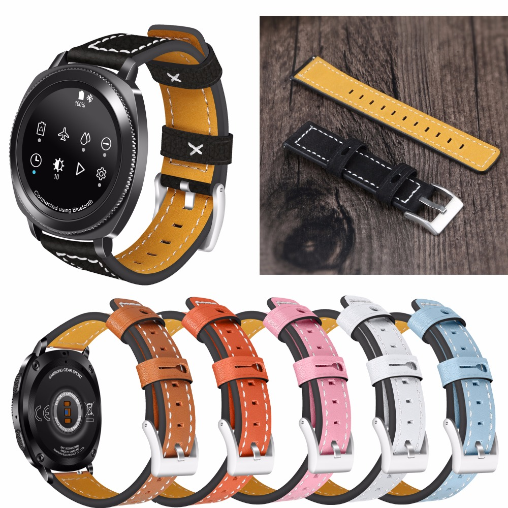 Joyozy Replacement Leather Strap with Stainless Steel Buckle for <font><b>Samsung</b></font> Gear <font><b>S3</b></font> Classic /<font><b>Frontier</b></font> <font><b>Smartwatch</b></font> Watch Band image