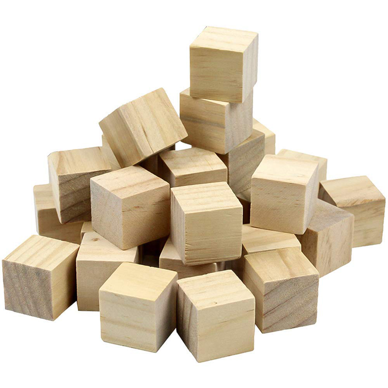 5 50pcs/pack Wooden Cube Blocks Skill Stack Grown Up Toys Tower Collapses Games Kids Gifts Natural Color Blocks-in Blocks from Toys & Hobbies