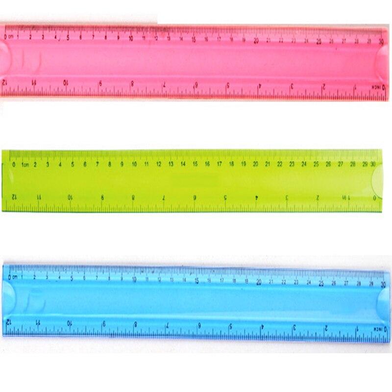 1 PCS riglă din plastic 30cm riglă riglă Cute rigler din plastic - Materiale școlare și educaționale - Fotografie 6
