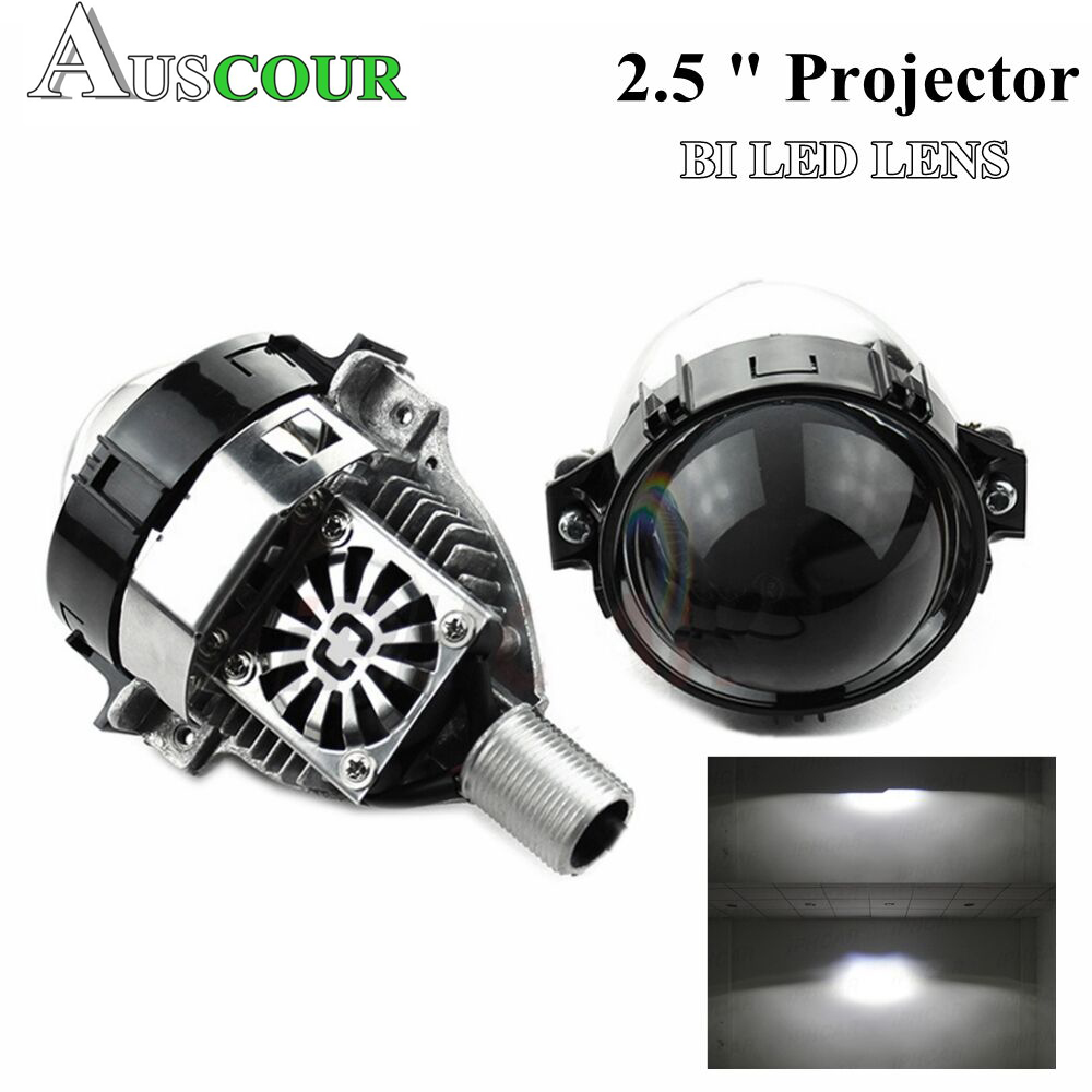 35W2.5 BI LED projector lens car universial LED Headlight High Low Beam hid xenon lens fit h1 h4 h7 d1 hb3 hb4 retrofit modify hid bi xenon halogen bifocal high low beam projector fog light lens lamps holder for bmw 1 series 118i 120i e87 x3 e83 x5 e70