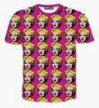 Alisister nueva moda de Verano las mujeres Marilyn Monroe camiseta punky impresa Camiseta de las mujeres Ocasionales unisex 3d de manga corta camisetas