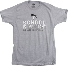 Novelty Tee Shirts MenS Short Sleeve School Is Important, But Judo Importanter Printed O-Neck