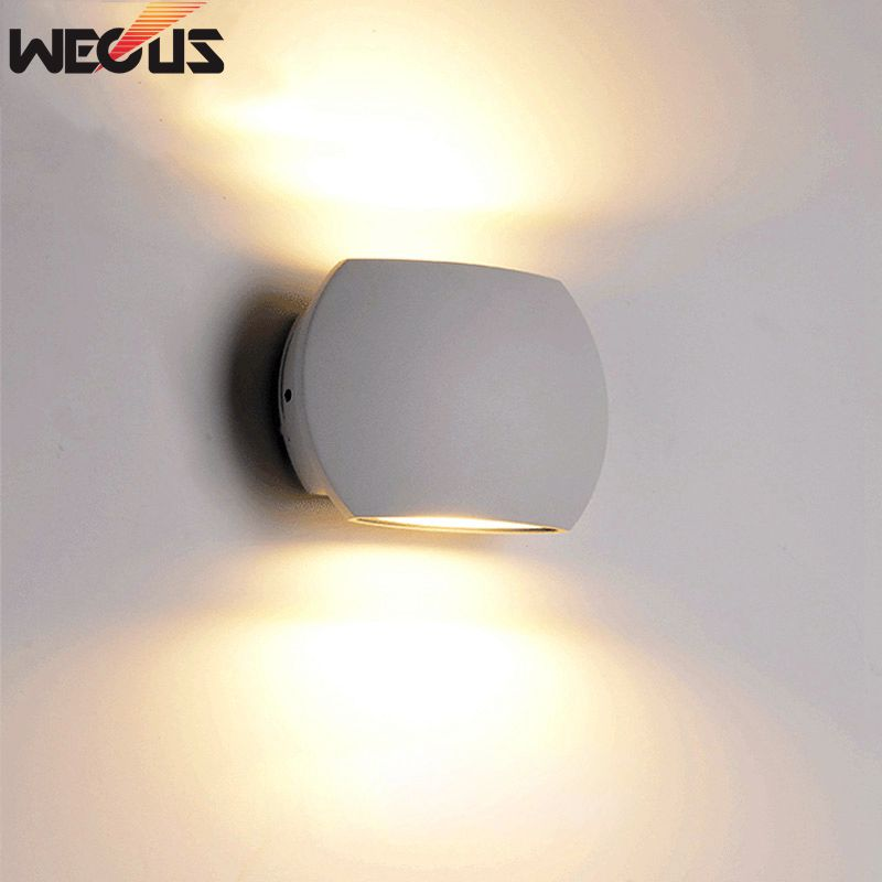 [WECUS] Indoor COB 6W LED Wall Lamps AC85-265V Aluminum Decorate Wall Sconce bedroom LED Wall Light modern led wall light 2w 4w 6w ac85 265v high quality aluminum decorate bedroom reading indoor wall lamp decoration light