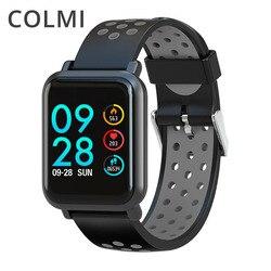 Colmi relógio inteligente 2.5d tela ips gorilla glass relógio de fitness pressão arterial ip68 à prova dip68 água atividade rastreador smartwatch