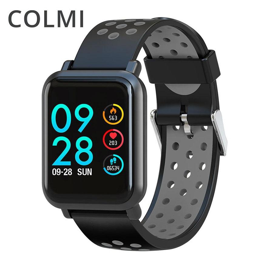 Reloj inteligente COLMI 2.5D IPS pantalla Gorilla Glass Fitness reloj de presión arterial IP68 impermeable rastreador de actividad Smartwatch