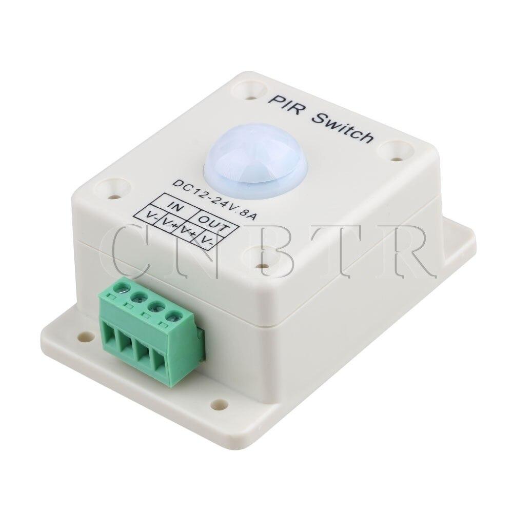 CNBTR DC 12V~24V 8A Automatic LED PIR Motion Sensor Switch Light Lighting automatic dc 12v 24v 8a infrared pir movement sensor switch for led light