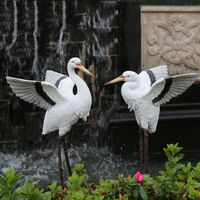 Wholesale Garden Ornaments Resin Egrets Simulation Garden Sculpture Landscape Figurines Home Garden Decoration
