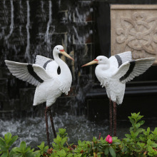Wholesale Garden ornaments resin egrets simulation garden sc