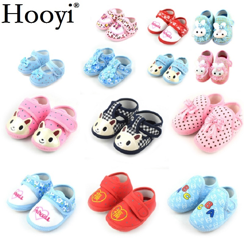 Hooyi Cotton Bear Baby Boy First Walkers Newborn Shoes Anti-Slip Animal Bebe Girls Moccasin Infant Boots 0-2Years Babies Socks