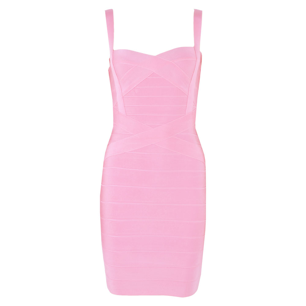 spaghetti strap rayon pink sweetheart sexy girl short hl bodycon cross party bandage dresses