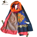 Fashion Retro Ethnic Style Cotton Scarves Women Winter Autumn Floral Scarfs Outdoor Casual Ladies Sun-Protecting Long shawls