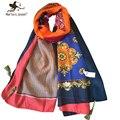 Moda Retro estilo étnico bufandas de algodón mujeres otoño invierno florales bufandas de exterior Casual Ladies Sun proteger los mantones largos