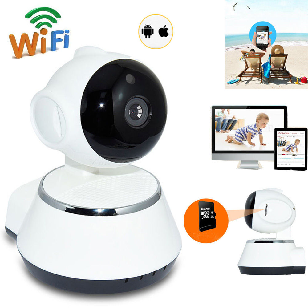 Wireless Pan Tilt 720P WiFi IP AP Network Camera Night Vision Security Webcam 720p pan
