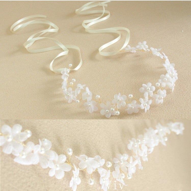 jonnafe blancas flores de tela diadema nupcial pelo de la boda accesorios hechos a mano de