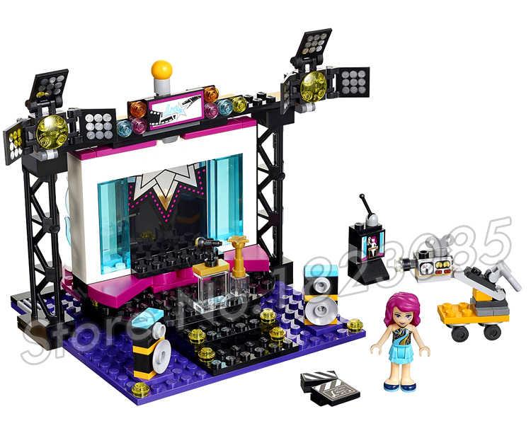 194pcs חברים סדרת סופר פופ כוכב טלוויזיה סטודיו זינגר 10538 אבני בניין איור אוליביה אנדריאה צעצועי תואם עם LagoING