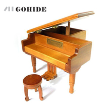 GUH Brand New Fashion Design Solid wooden grand piano music box wood music box with free