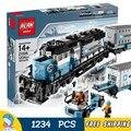 1234 шт. Поезд Создатель Сериала Maersk Поезда 21006 Классическая DIY Модель Строительство Комплект Блоки Игрушки Совместимы с Lego