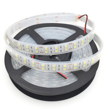 Free shipping 5M Double Row 5050 Waterproof LED Strip 600LEDs 120LEDs/M 12V 35W White/Warm White
