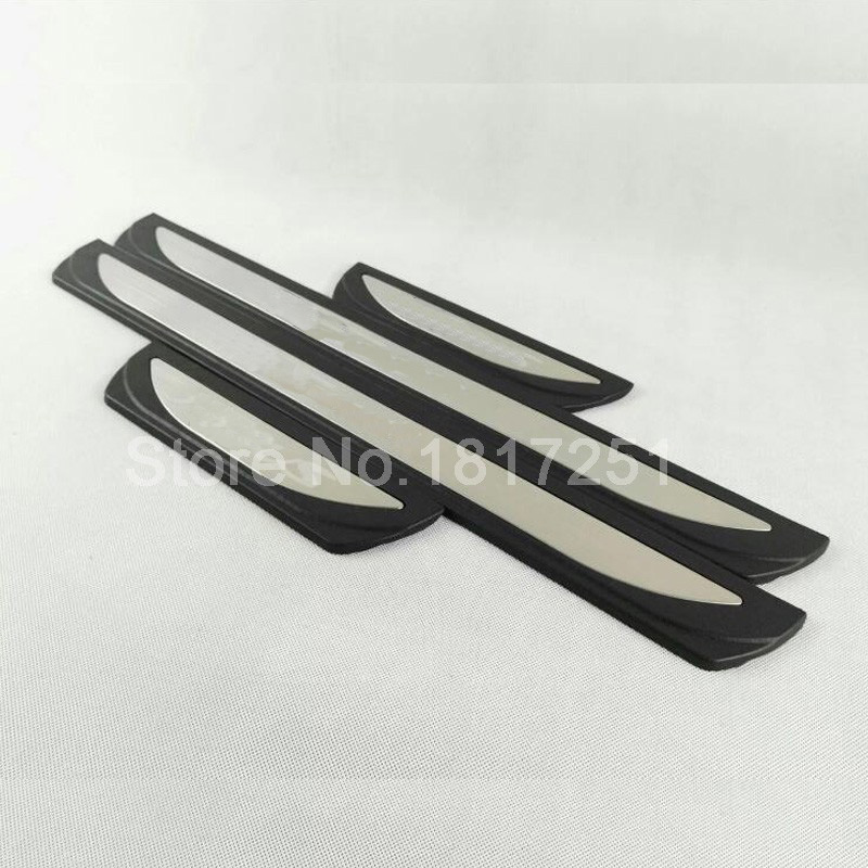 Free Shipping Stainless Steel Car sticker Door Sill Scuff Plate for FORD FOCUS 2 MK2 FOCUS 3 MK3 Car Styling Accessories in Chromium Styling from Automobiles Motorcycles