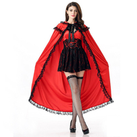 Halloween Little Red Riding Hood Costume Adult Cosplay dress Christmas party performance night club wear for women JQ 1035
