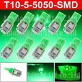10x T10 зеленый из светодиодов W5W автомобилей из светодиодов авто габаритных фонарей 2825 194 автомобильного номера интерьер парковка оформление источник света