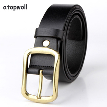 Belts For Men Luxury Genuine Leather Designer Belt Male Fashion Vintage Gold Pin Buckle Strap For Cowboy Jeans High Quality 2018 new large size genuine leather men belts fashion long male designers high quality 140cm 150cm 160cm jeans pin buckle belt