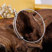 Promotion 20pcs/lot 2016 Top Popular 60mm 65mm 50mm Popular Stainless Steel Expandable Wire Bangles For DIY Jewelry Making