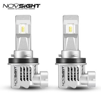Novsight H11 Led Headlight 6000k 55w 10000lm Pair Car Automotivo Auto Headlamp Fog Light Bulbs Car Styling 12V 24V Aluminum 6063