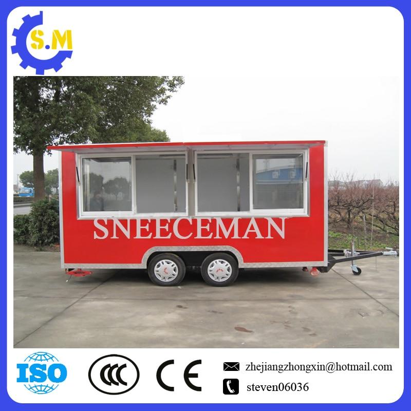 Trak Makanan Mudah Alih Kilang China Kedatangan Baru Treler Makanan Mudah Alih Jalan Treler Makanan Bergerak