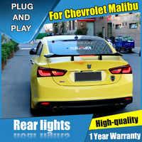 Auto Styling LED Schwanz Lampe für Chevrolet Malibu Schwanz Lichter 14-18 für Malibu Hinten Licht DRL + Drehen signal + Bremse + Umge LED licht