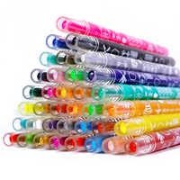 12/18/24/36 couleur soluble dans l'eau soyeuse peinture à l'huile bâton enfants crayons rotation maternelle éducatif dessin Art fournitures