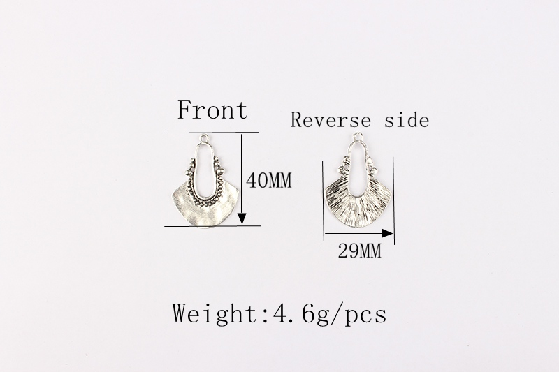 Новинка 5 шт/лот 40х29 мм ретро античный цинковый сплав полумесяц