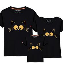 1 штука подходящая одежда для мамы и дочки милая кошачья с принтом