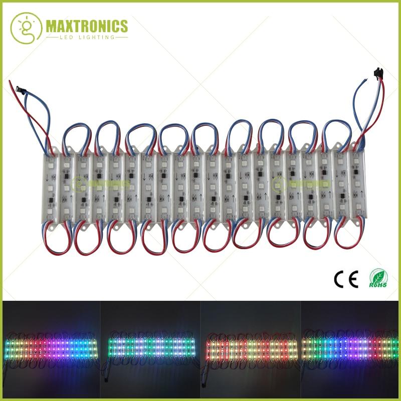 20pcs/lot 3 Leds 5050 WS2811 Dream Color Individually Addressable Full Color RGB LED Module Light Waterproof DC12V Free Shipping