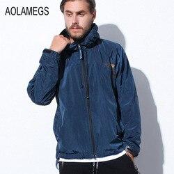 Aolamegs men jacket outdoors joggers windbreaker 2016 autumn new fashion casual hooded sporting windproof coat zipper.jpg 250x250