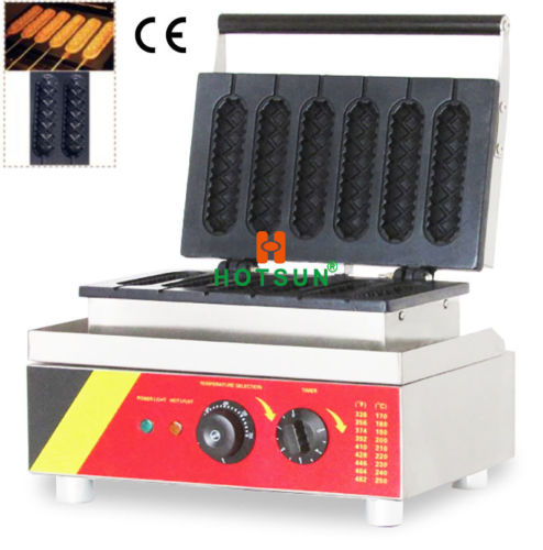 Commercial Nonstick Electric Muffin Hot Dog Lolly Waffle Stick Maker Iron Machin electric muffin corn dog waffle making machine lolly hot dog waffle machine