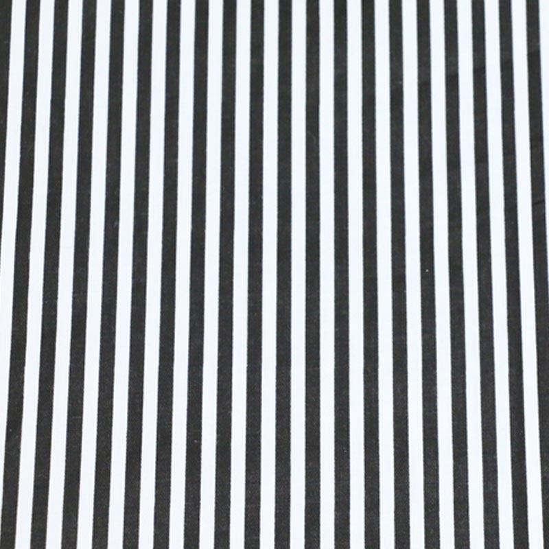 100% Baumwoll-twill Tuch Geometrische Einfache Schwarzweiss-streifen Stoff Für Diy Krippe Bettwäsche Kissen Wohnkultur Handarbeit Tissue