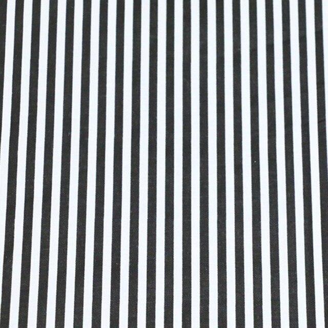 100 Cotton Twill Cloth Geometric Simple Black And White Stripe Fabric For Diy Crib Bedding Cushions Home Decor Handwork Tissue