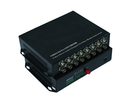16ch Analog Optical Transmitter With 1ch RS485 Data(Desk Type, Single Mode, Single Fiber 40KM, FC