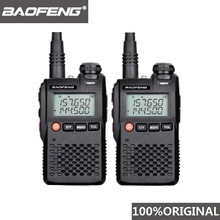2pcs Baofeng UV-3R Walkie Talkie UV3R Mini Woki Toki Ham Radio Comunicador CB Station HF Transceiver UV 3R Talkie-walkie