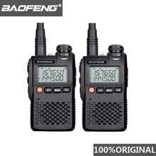 Baofeng Walkie Talkie UV 3R, 2 uds., UV3R, Mini Woki Toki Ham, Radio Comunicador, estación de Radio CB HF, transceptor, UV 3R