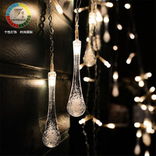 Lucine Luces Led Navidad Fairy String Lights Wedding Curtain Icicle Guirlande Lumineuse Cortina Led String Lights Decorativas